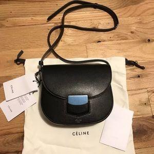 Celine Trotteur Small Black Crossbody Bag Purse